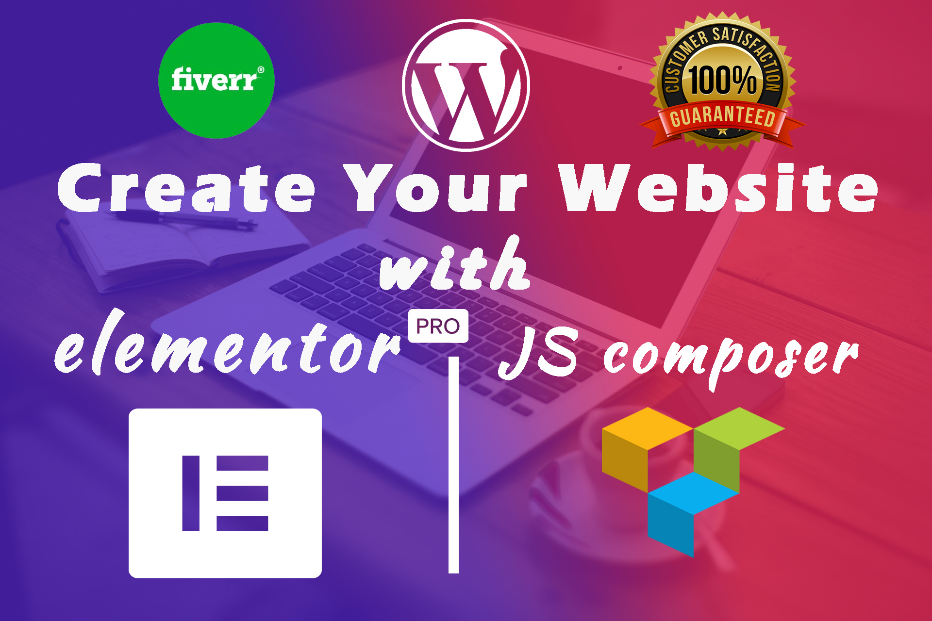 I will design or redesign wordpress website using elementor or js composer page builder