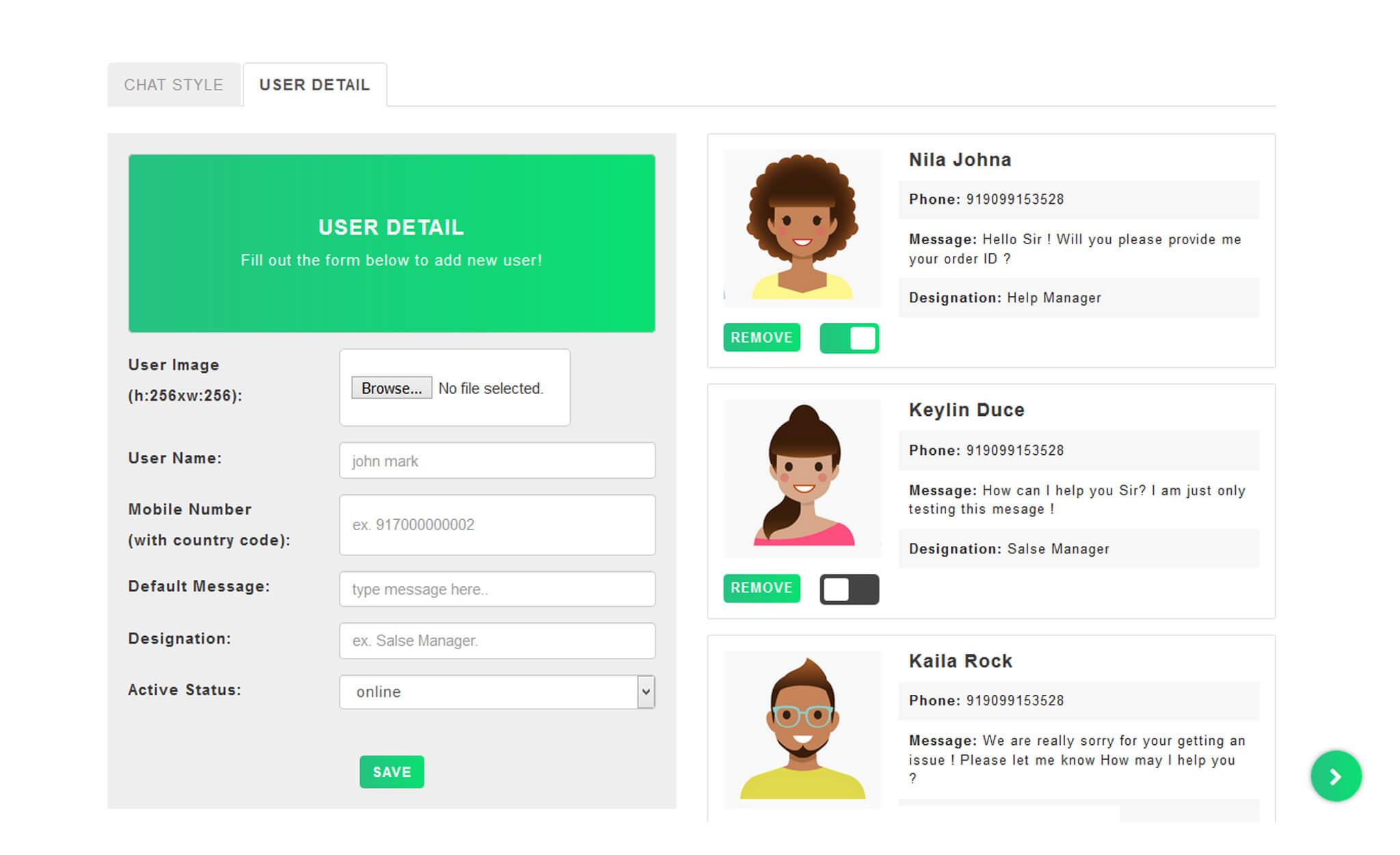 WhatsChat - WhatsApp Chat Widget PHP Plugin