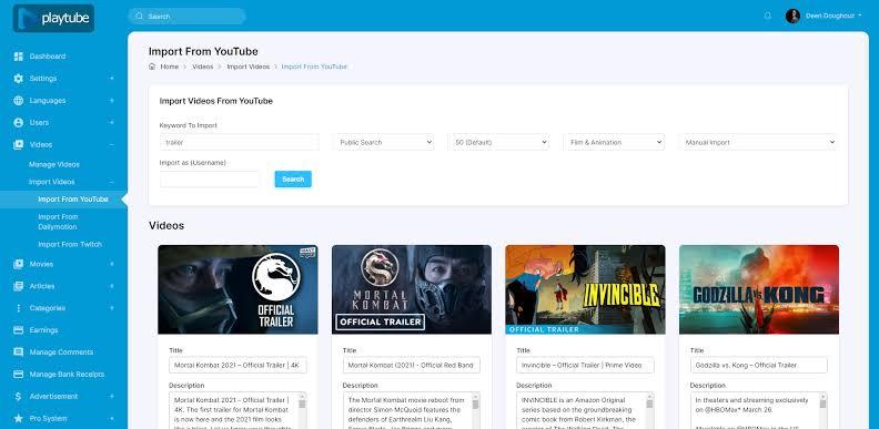 Create Video Sharing Platform Using Playtube Video Sharing PHP Script