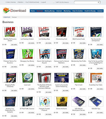 eBooks Digital Products Store Website For Sale - 180+ items included