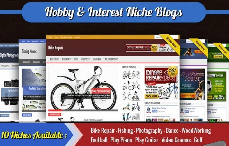 Collection of 50+ Ready Made WordPress Niche Blogs - Earn via Adsense,  Clickbank,  Amazon