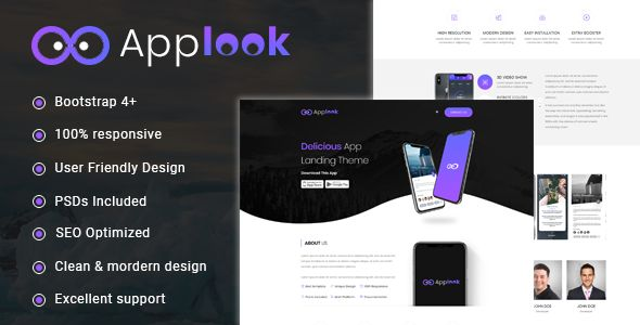 Applook - App Landing Page Web Theme