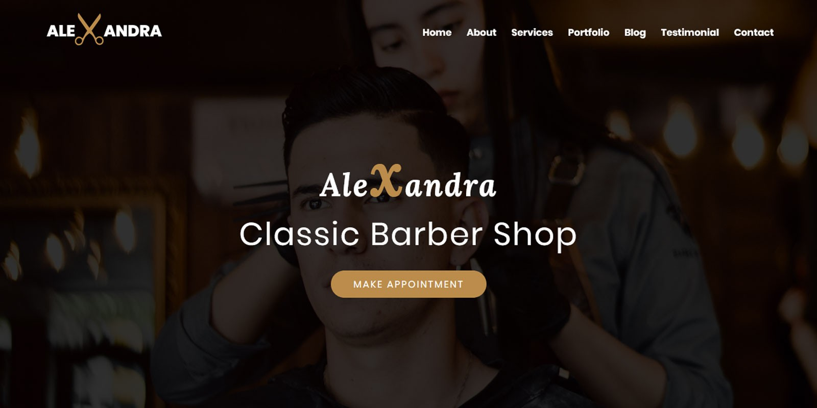 Barber Shop,  Agency,  etc. Web Theme