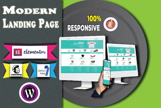 Customize or Design a MODERN LANDING PAGE WEBSITE with ELEMENTOR in WordPress