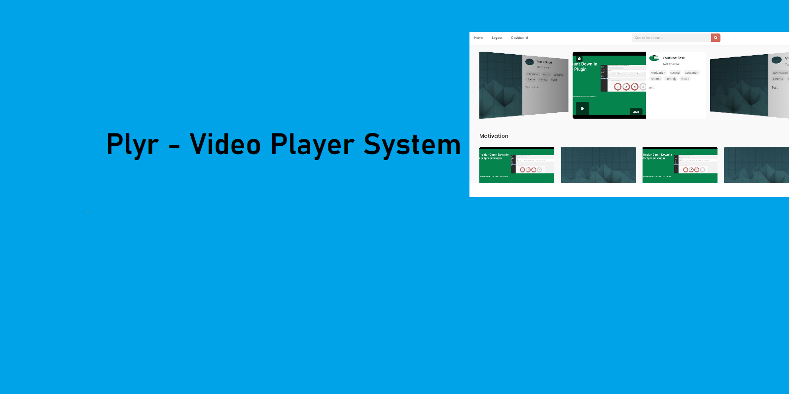 Plyr Video Player System in CodeIgniter