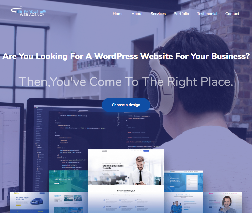 I will design fast loading, mobile friendly wordpress website fast