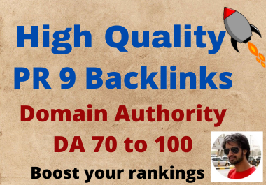 Build 20 DA70+ Powerful High Quality Backlinks to increase rankings