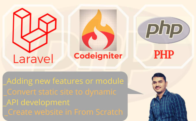 fix, develop a web application using php, laravel