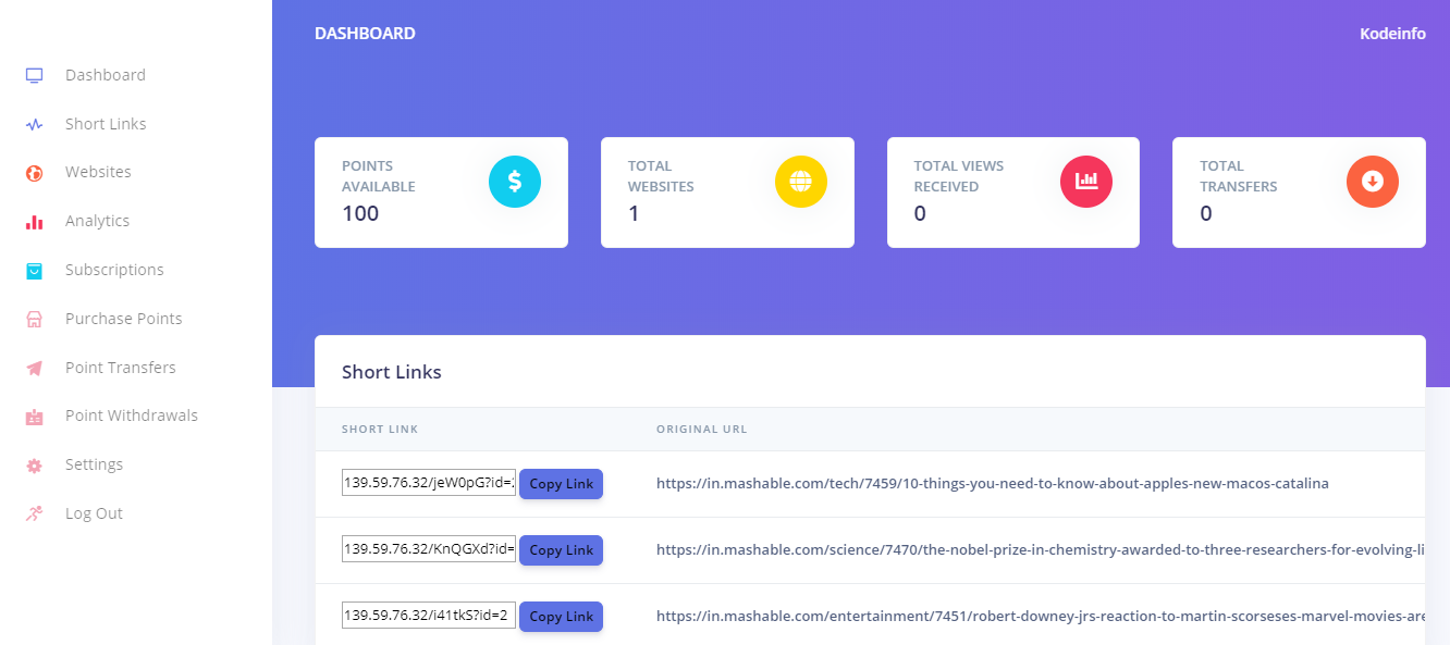 Linkify - Traffic/Link Exchange System