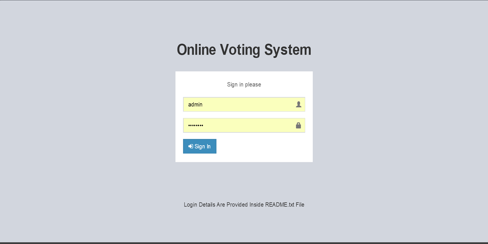 Online voting system created with PHP language