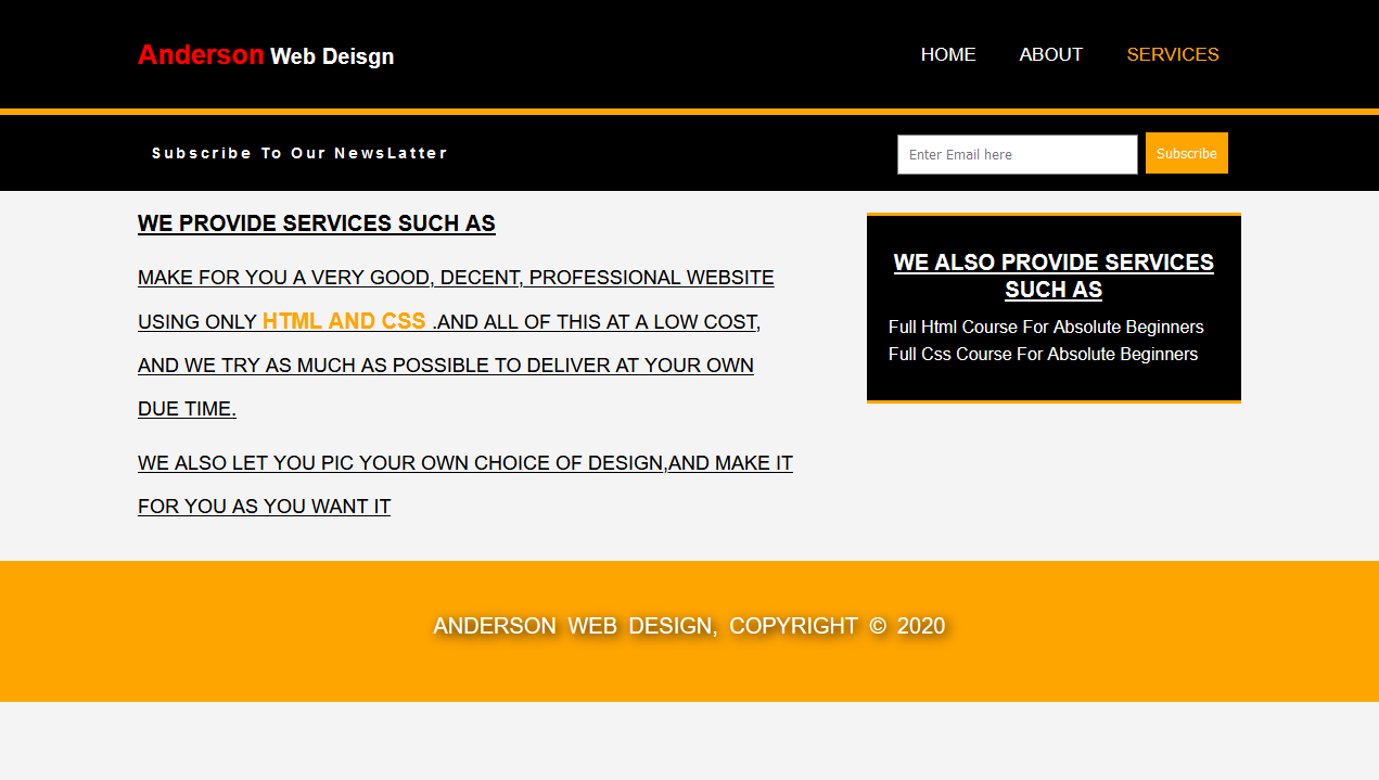 Make affordable and professional websites,  with cool and amazing designs, and responsive