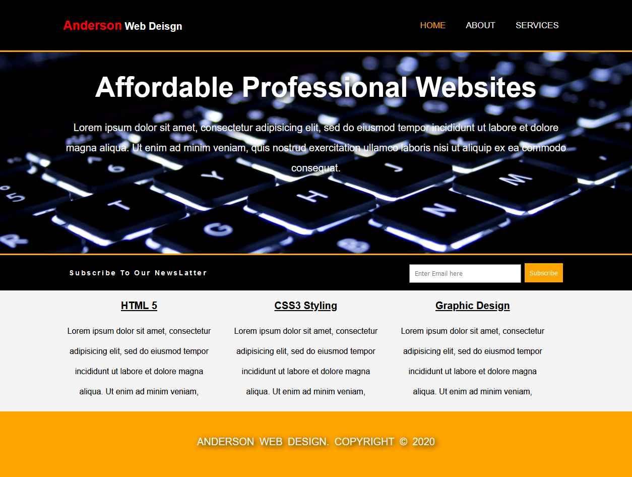 Make affordable and professional website using HTML and CSS