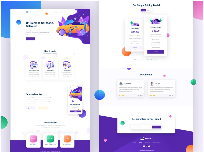 I will create mobile ui or website ui design