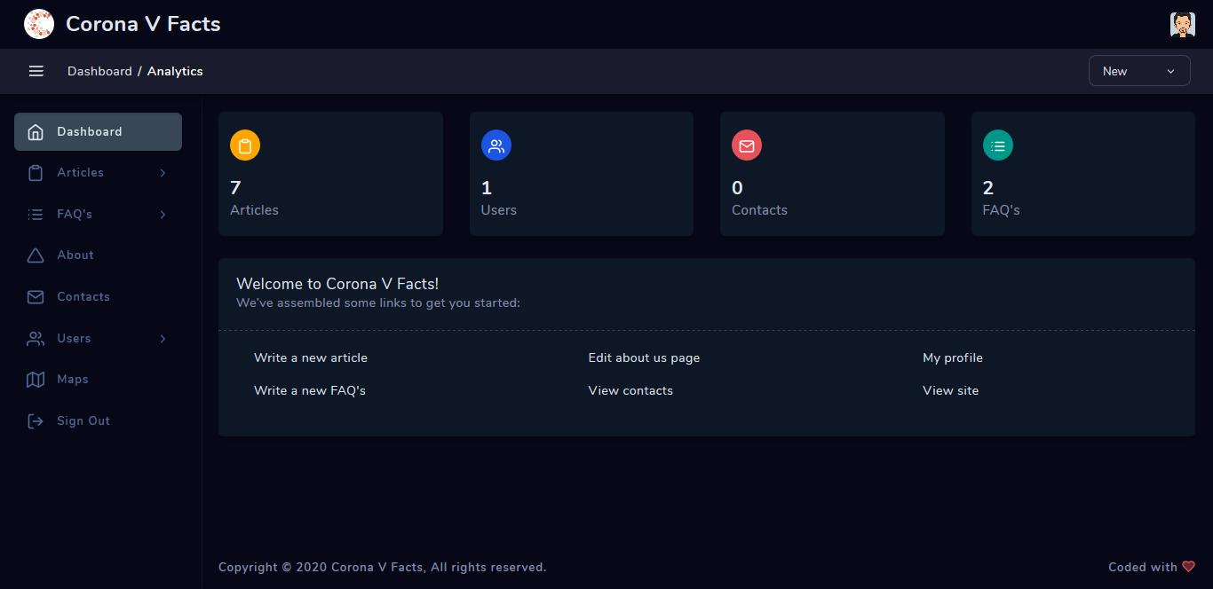 PHP7 Corona Virus Blog Script ( Corona V Facts )