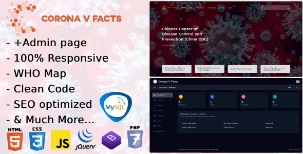 PHP7 Corona Virus Blog Script Corona V Facts