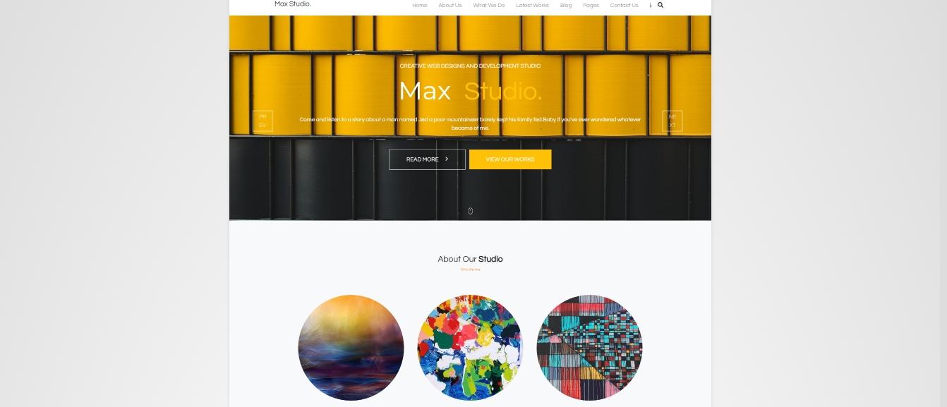 Responsive Studio Portfolio - HTML, CSS, Bootstrap 4