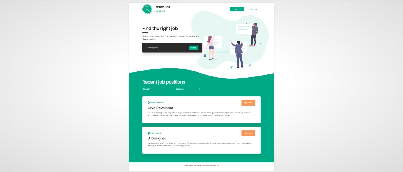 Bootstrap Job Board Template - HTML, CSS, jQuery, Bootstrap4