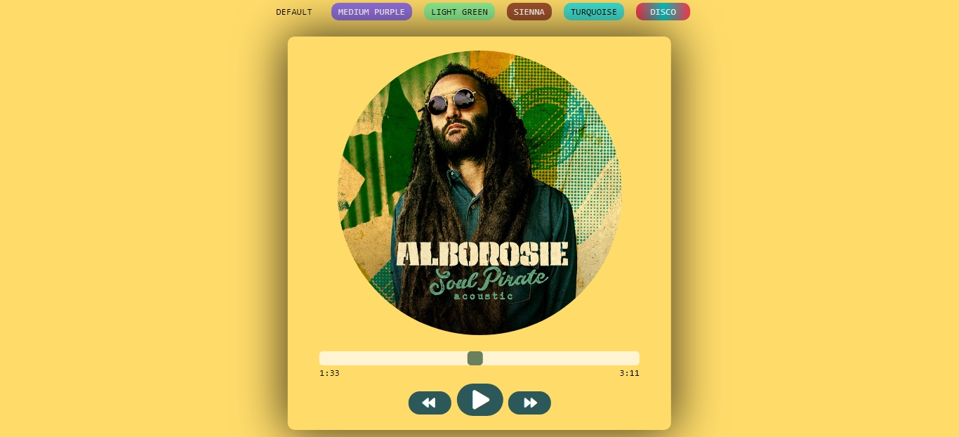 Music Player UI Design - HTML5,  CSS3,  JS