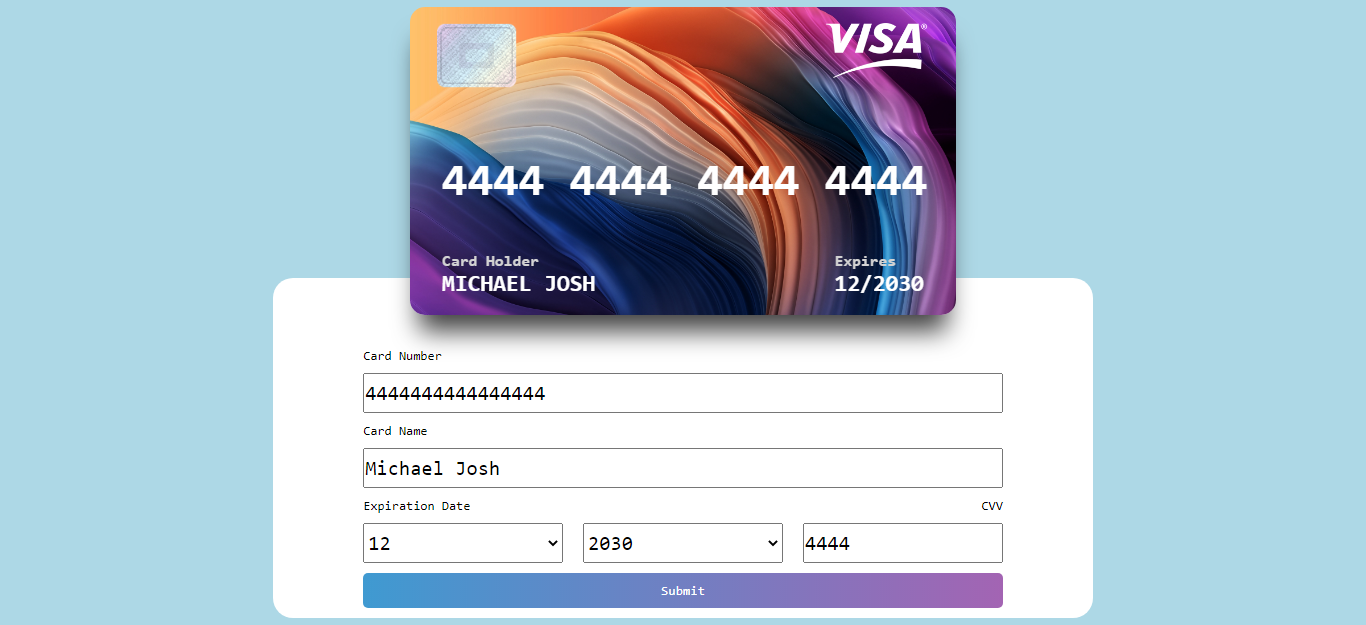 Credit Card Form - Pure Javascript