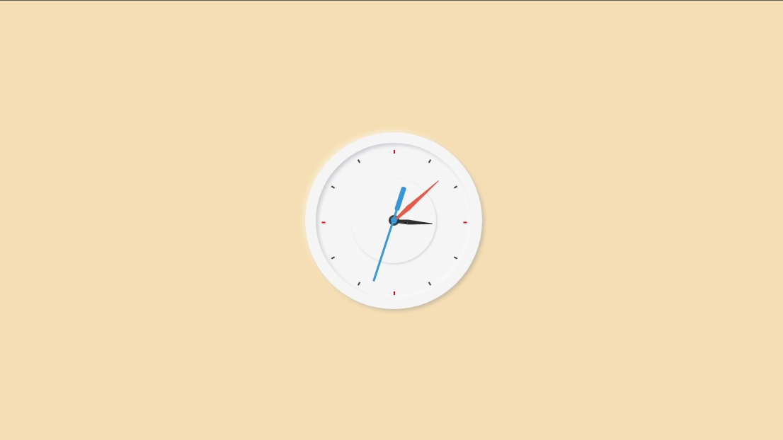 Creative Analog Clock - HTML,  CSS & Javascript