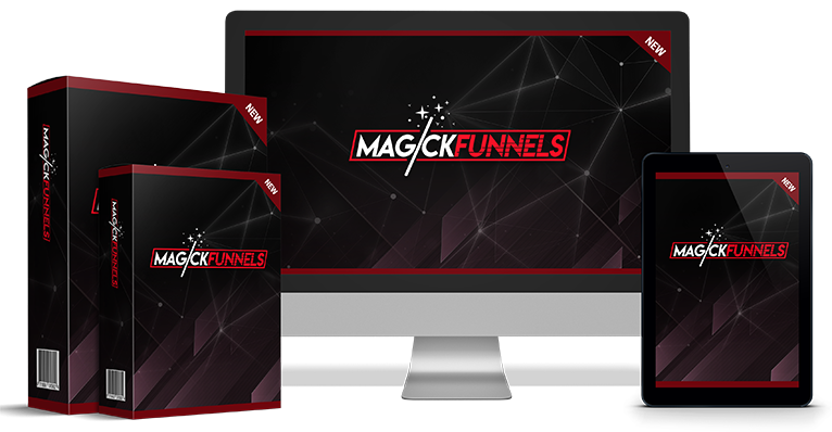 Magick Funnels is THE all-inclusive list-building,  commission-generating app that makes it 3 step si