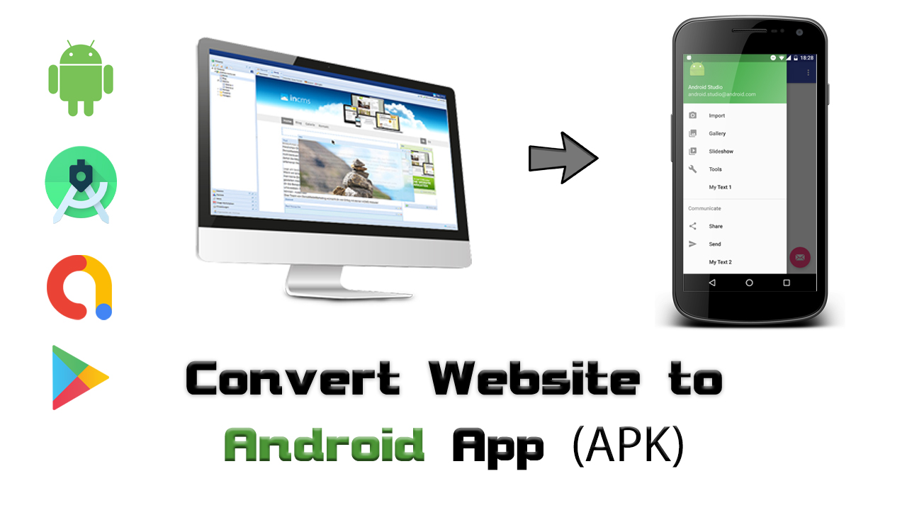 Convert Your Any Website To Android App APK using Android Studio