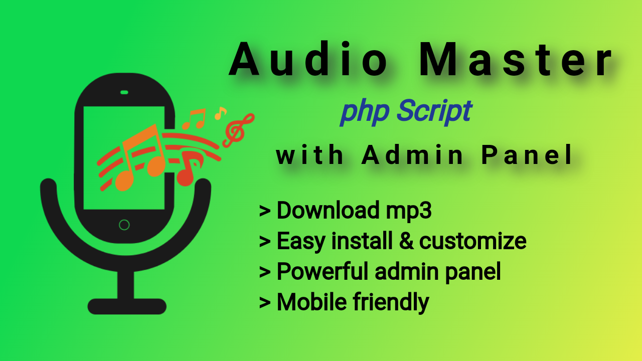 Audio Master PHP Music Portal with Admin Panel