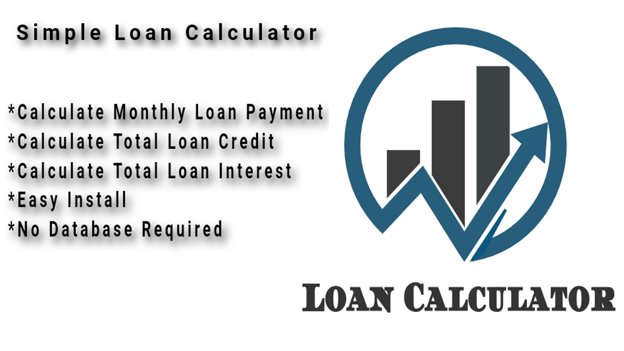 Loan Calculator PHP Script Without Database