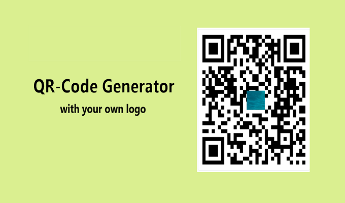 Generate QR-code with logo php codeigniter