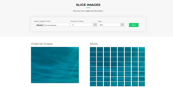 Slice image horizontal,  vertical or grid