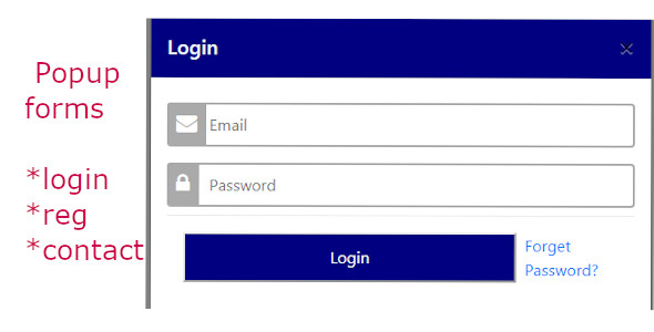 Bootstrap designer Popup forms