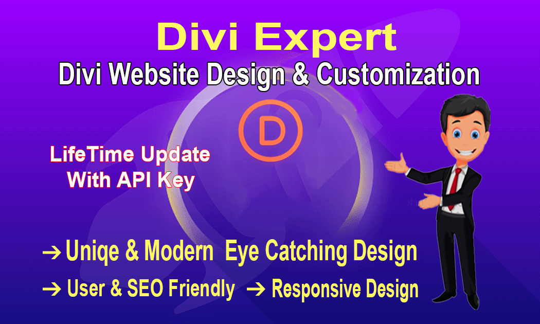 I will build your Full wordpress website with divi theme and do customization