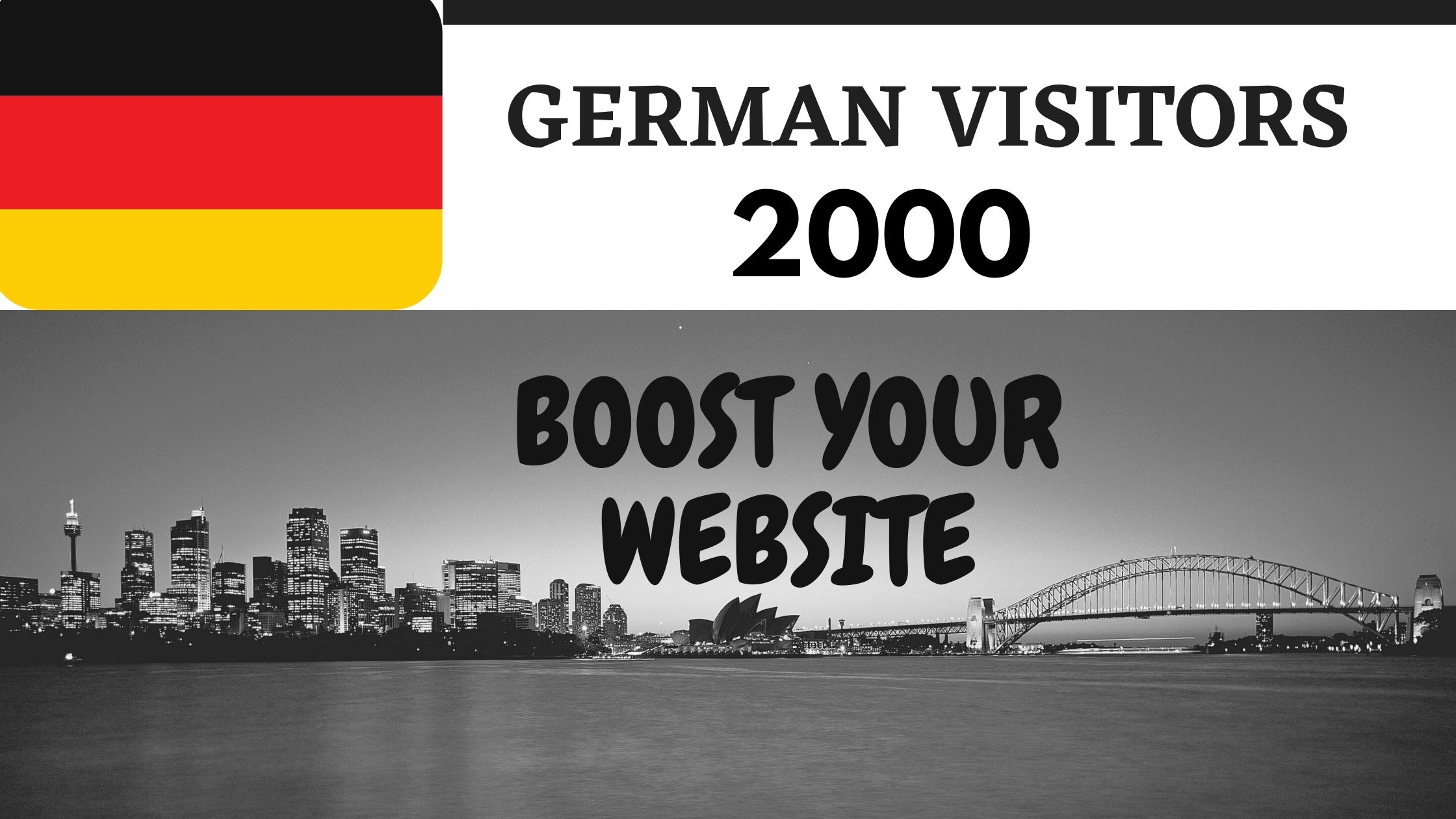 2000 German web traffic for boost your website