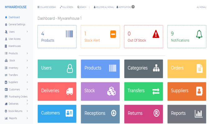 Responsive Warehouse Management System (PHP Script)