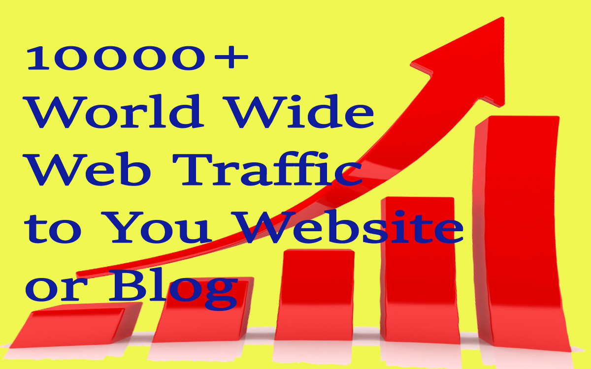 10000+ World Wide Web Traffic To Your Website Or Blog
