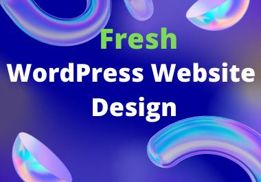 I will setup modern wordpress website design or blog design