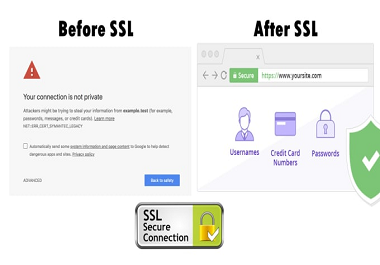 I will install free https SSL certificate or fix related errors