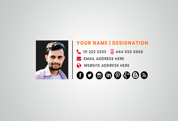 Clickable HTML email signature