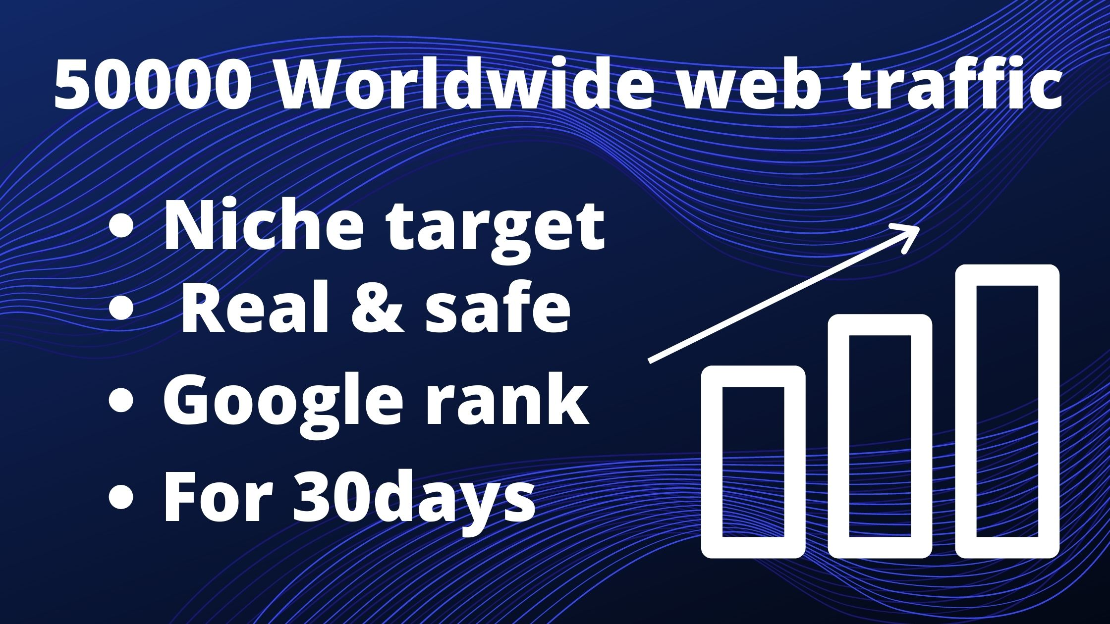 50000 Worldwide webtraffic for boost your website or blog