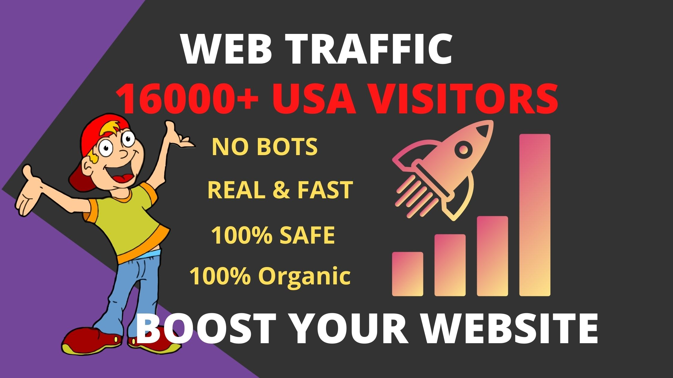 16000 drive keyword targeted USA web traffic,organic visitors