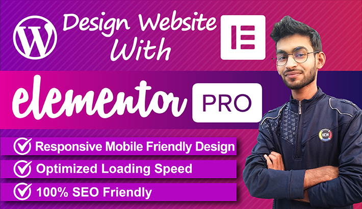 I will design professional wordpress website with elementor pro