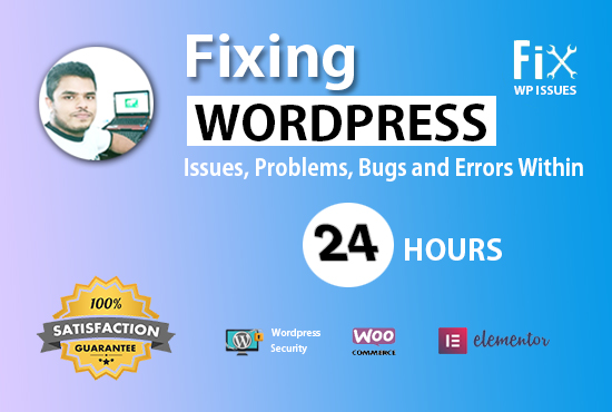 I will fix wordpress issues,  wordpress website or errors