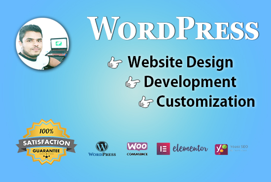 I will install wordpress,  import theme and do customization