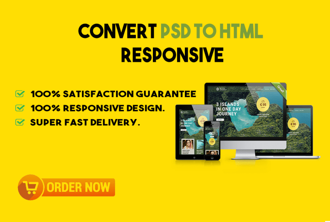 I will convert psd to html with responsive website