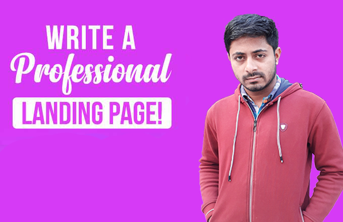 I will design responsive html landing page