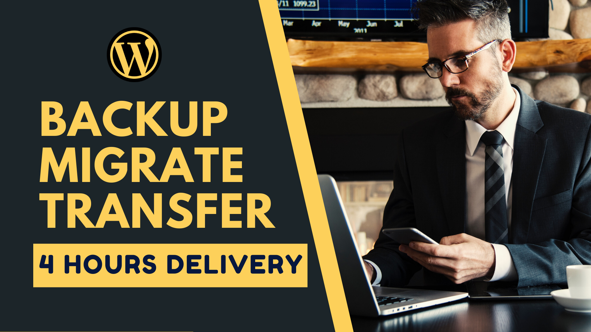 I will Backup,  migrate,  transfer your wordpress website in 4 Hours.