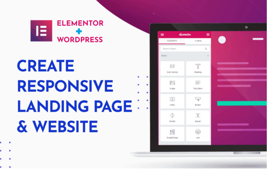 I will create landing page or website using elementor