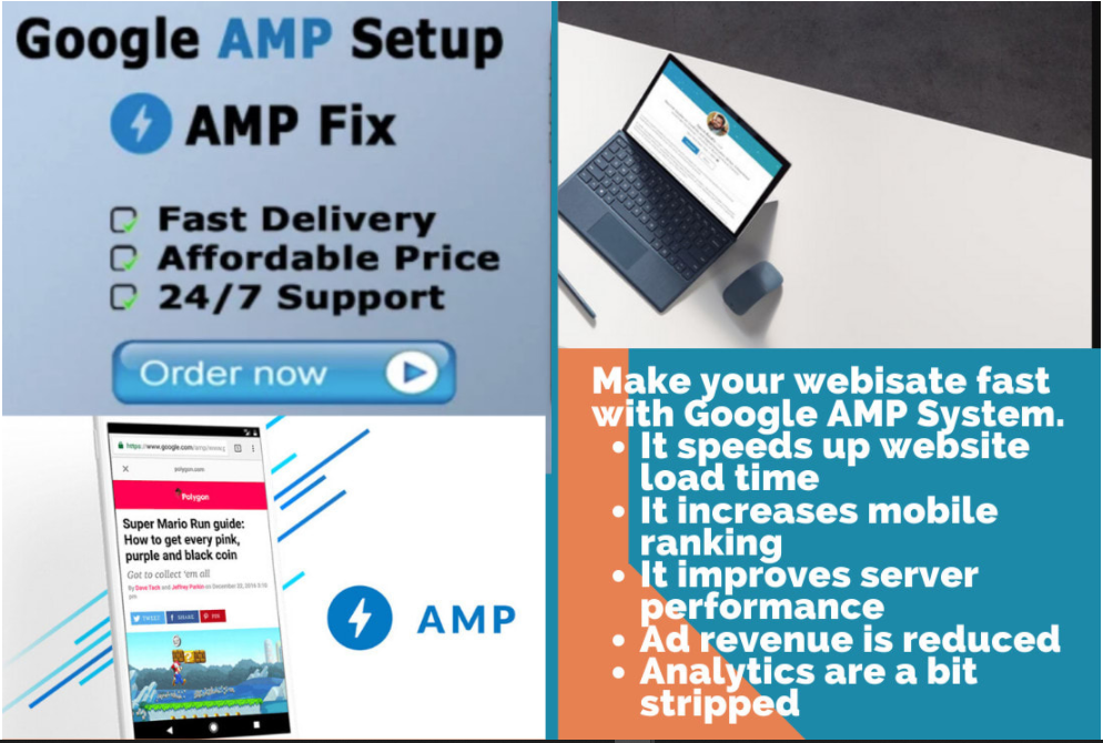 setup amp accelerated mobile pages or fix errors amp website