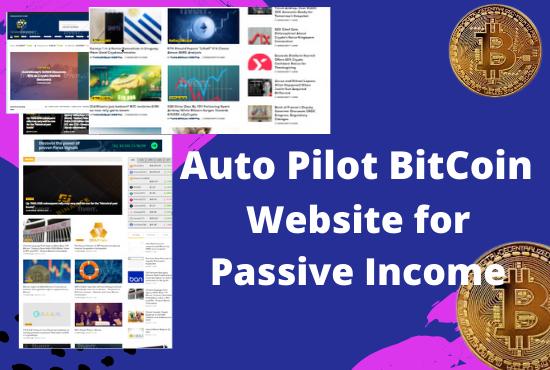 I will create fully autopilot crypto bitcoin news website for passive income