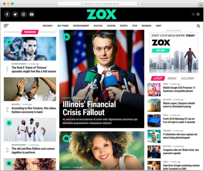 I will create autopilot entertainment news website for passive income